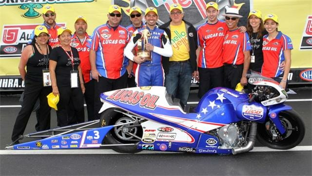 Hector Arana Jr. won the season opener in Gainesville  Florida.