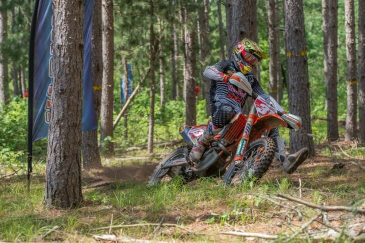 Russell Bobbitt took the win at the 2016 Huntersville National Enduro. Photo: Shan Moore