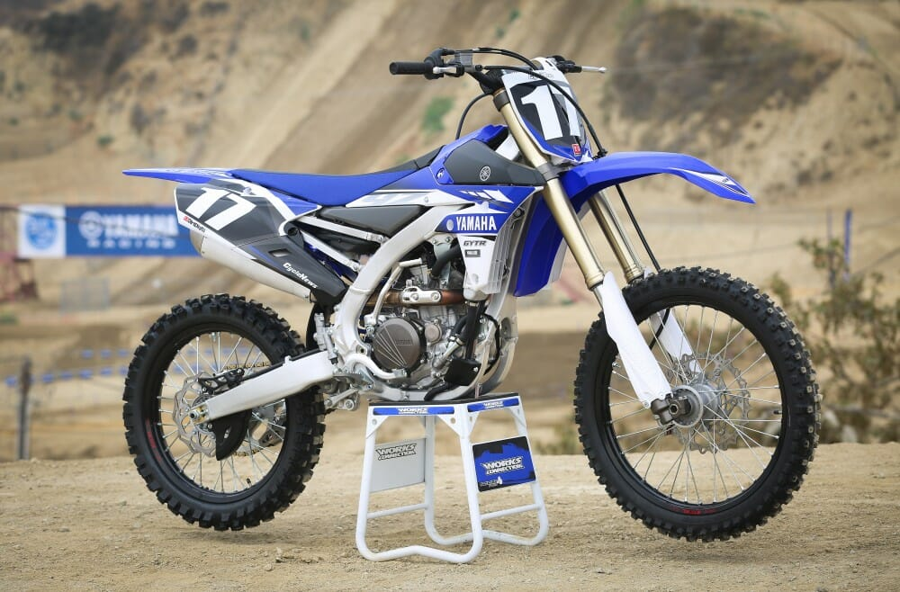 2017 yamaha yz250f and yz450f first rides cycle news for 2017 yamaha yz450f