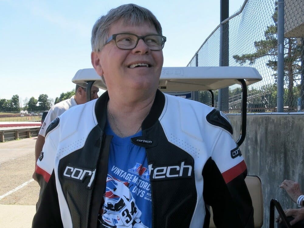 Two-time AMA Superbike Champion Wes Cooley honored.