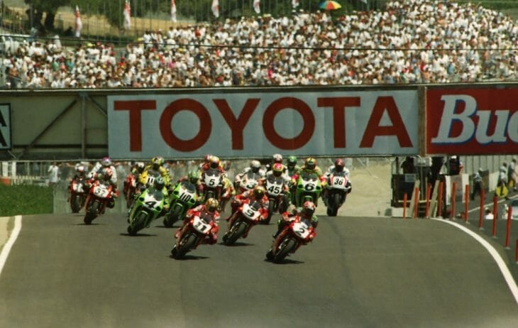 John Kocinski wins Laguna Seca World Superbike in 1996