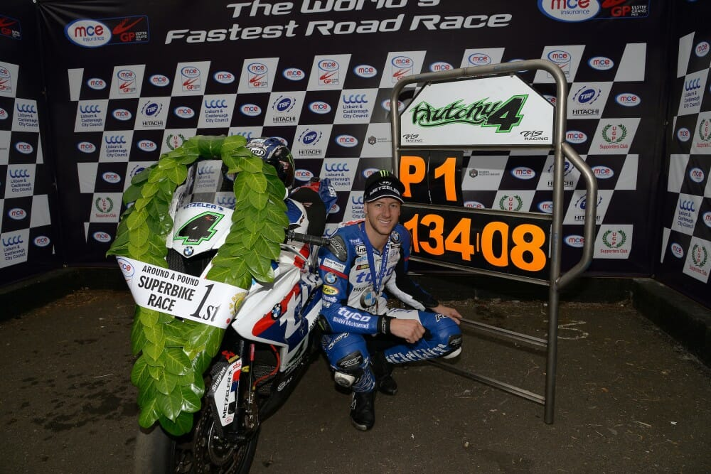 Hutchy now the fastest Road Racer in the world
