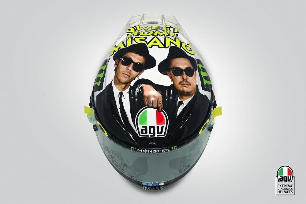 Rossi's Misano AGV Helmet Graphic