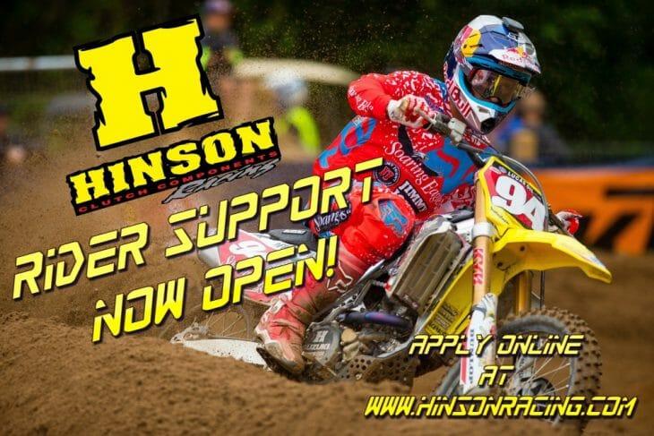 Hinson Clutch Components support rider Ken Roczen