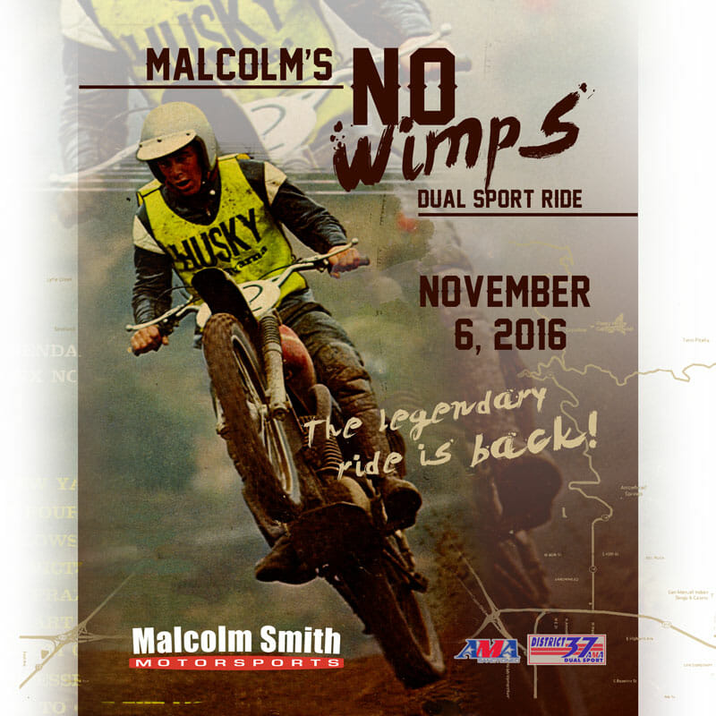 Malcolm's No Wimps Dual Sport Ride