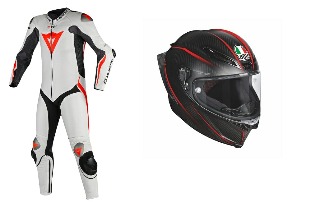 dainese 39 s mugello r d air leathers and agv pista gp r helmet cycle news. Black Bedroom Furniture Sets. Home Design Ideas
