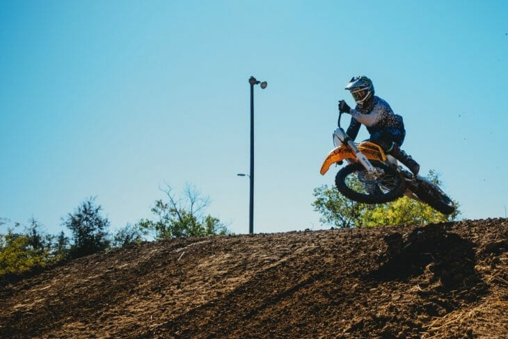 Josh Hill riding the Alta Electric motocross bike