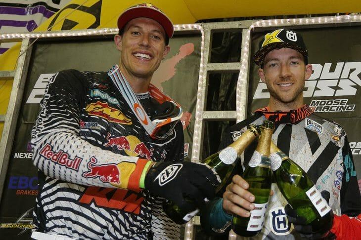 Colton Haaker (right) and Cody Webb