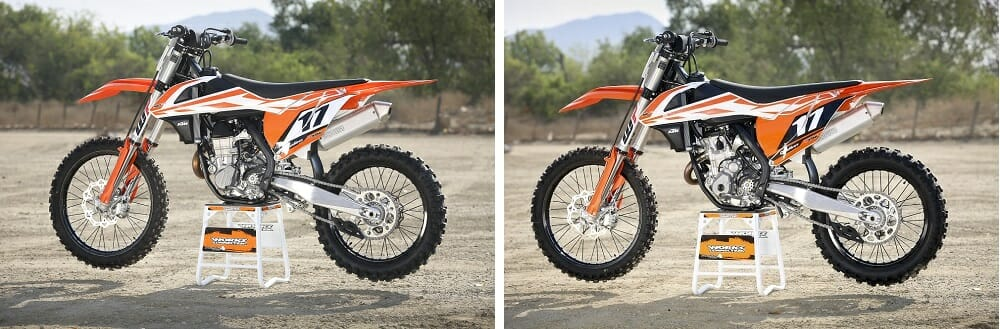 2017 ktm 450 and 350 sx-f: first ride - cycle news