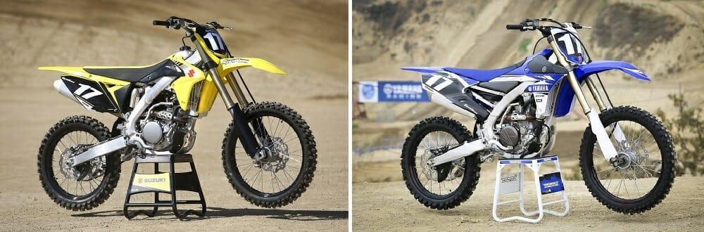 2017 Suzuki RM-Z250 and 2017 Yamaha YZ250F
