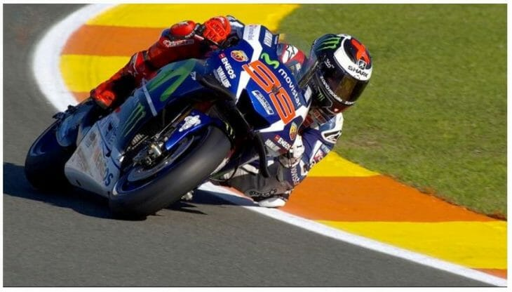 Jorge Lorenzo started off the season-ending MotoGP weekend by turning in a record-setting time at Valencia on Friday.