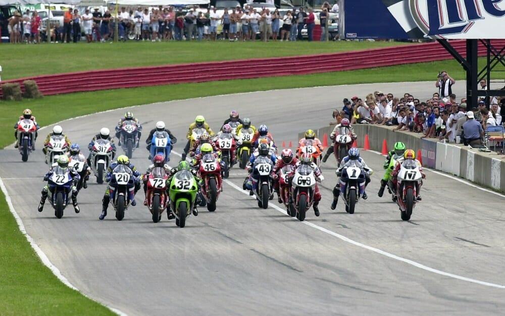 Mid Ohio Sportscar Course >> Throwback Thursday: Mid-Ohio Chevy Trucks AMA Superbike Start (2000) - Cycle News
