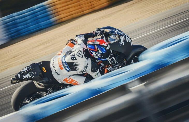 Bradley Smith on the KTM RC16 MotoGP bike