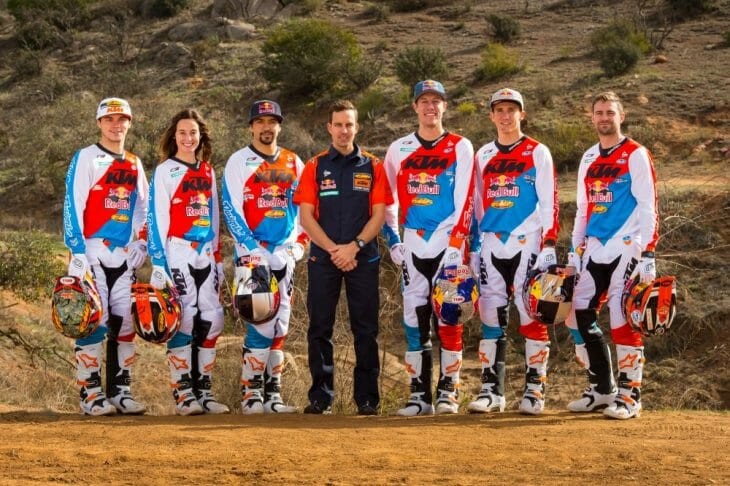 KTM Announces 2017 Off-Road Team