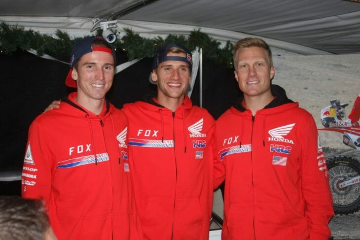 Factory HRC's Cole Seely, Ken Roczen and Andrew Short
