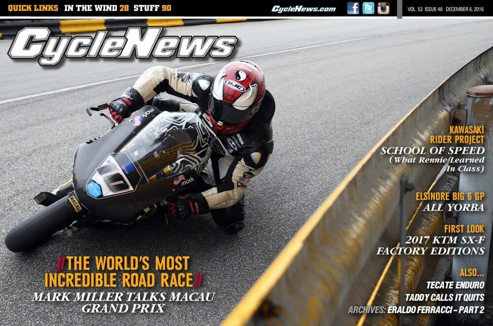 Cycle News Magazine #48: Racing Macau, First Look KTM Factory Edition...