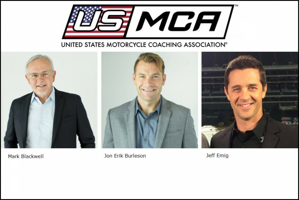 Mark Blackwell, Jon Erik Burleson and Jeff Emig are the founding board members for the United States Motorcycle Coaching Association.