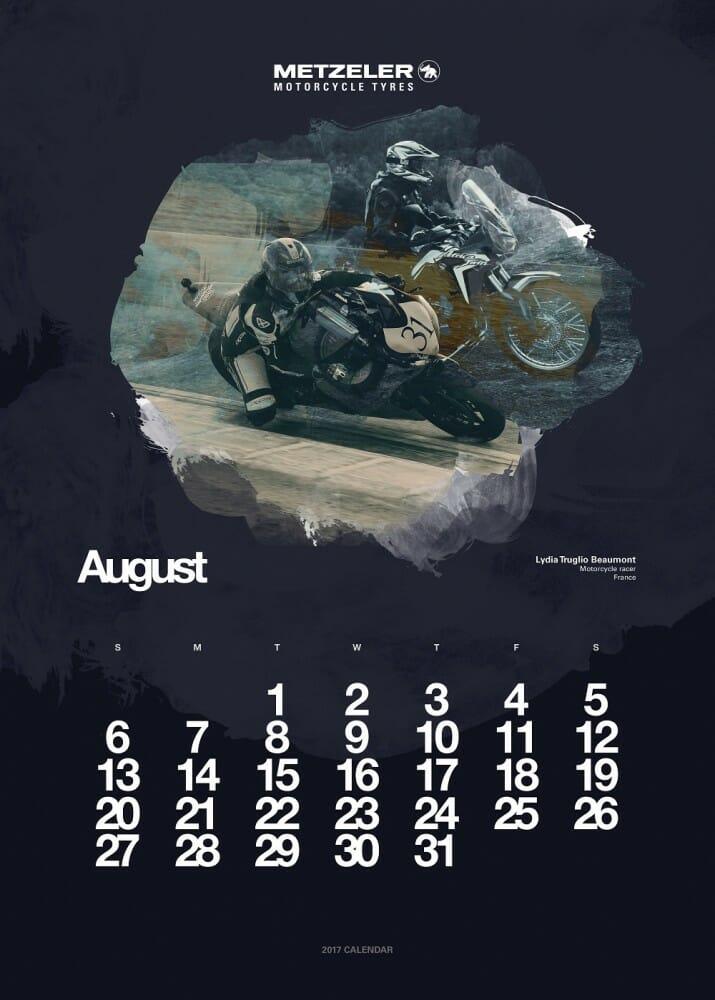 metzeler calendar 2017