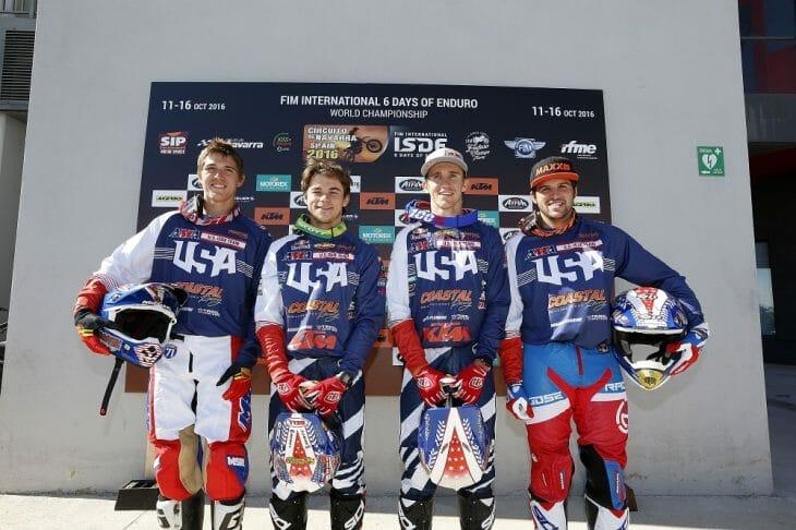 USA World Trophy FIM ISDE 2016 Navarra