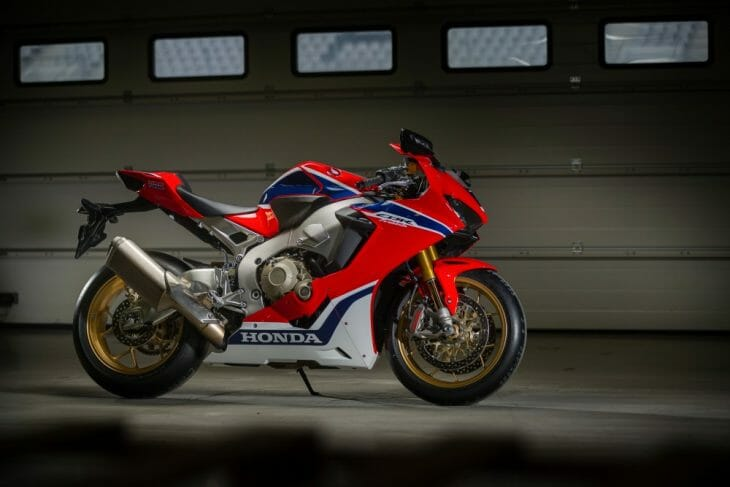 CBR SP in the garage.
