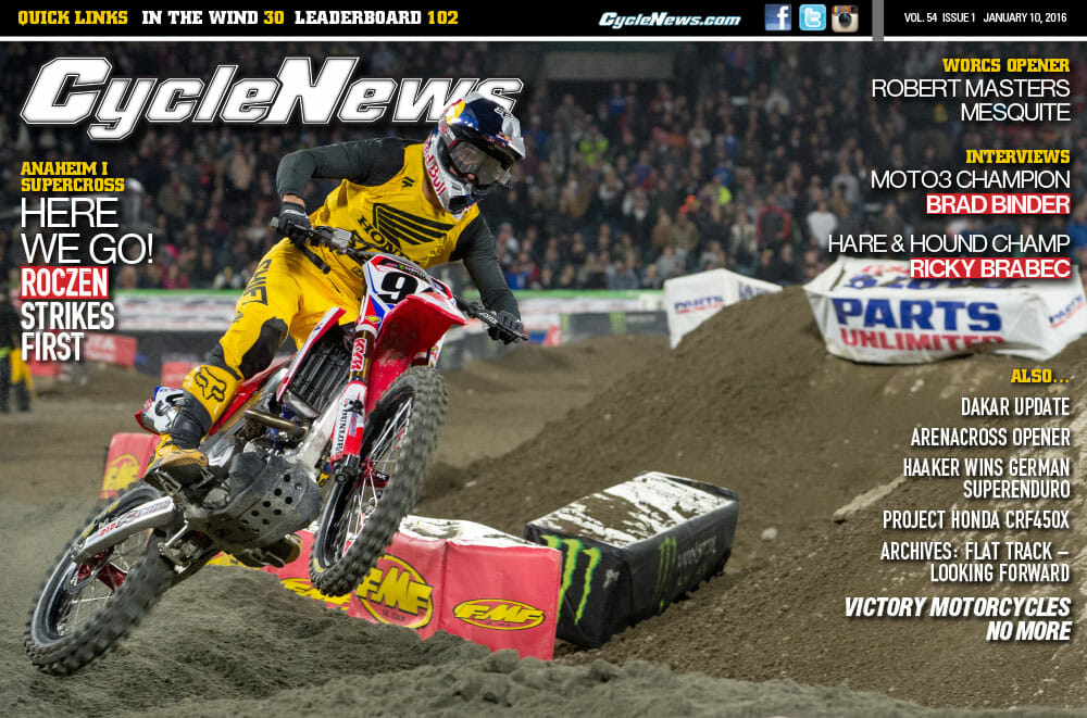 Cycle News Magazine: Anaheim One Supercross, Mesquite WORCS, Ricky Brabec Interview...