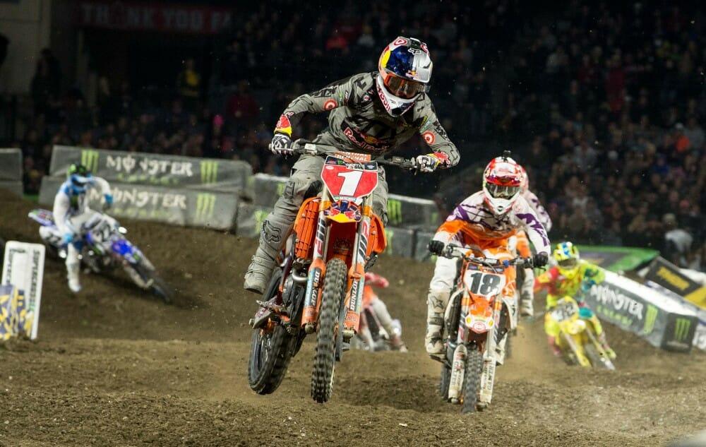 2017 Anaheim I Supercross 450 Results