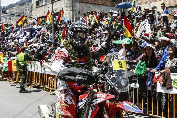 Brabec rides into Bolivia.