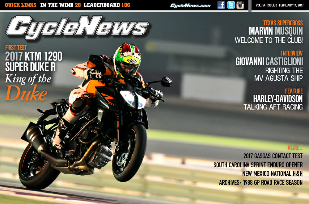 Cycle News Magazine #6: KTM 1290 Super Duke R Test, Texas Supercross...