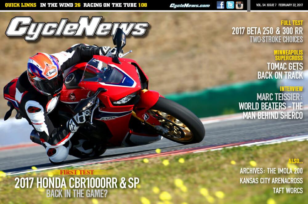 Cycle News Magazine #7: First Test Honda CBR1000RR, Minneapolis Supercross...