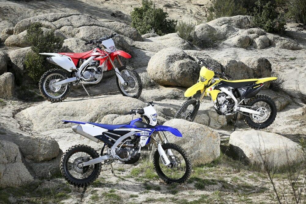 2017 Yamaha WR450F vs. Suzuki RMX450Z vs. Honda CRF450X: SHOOTOUT