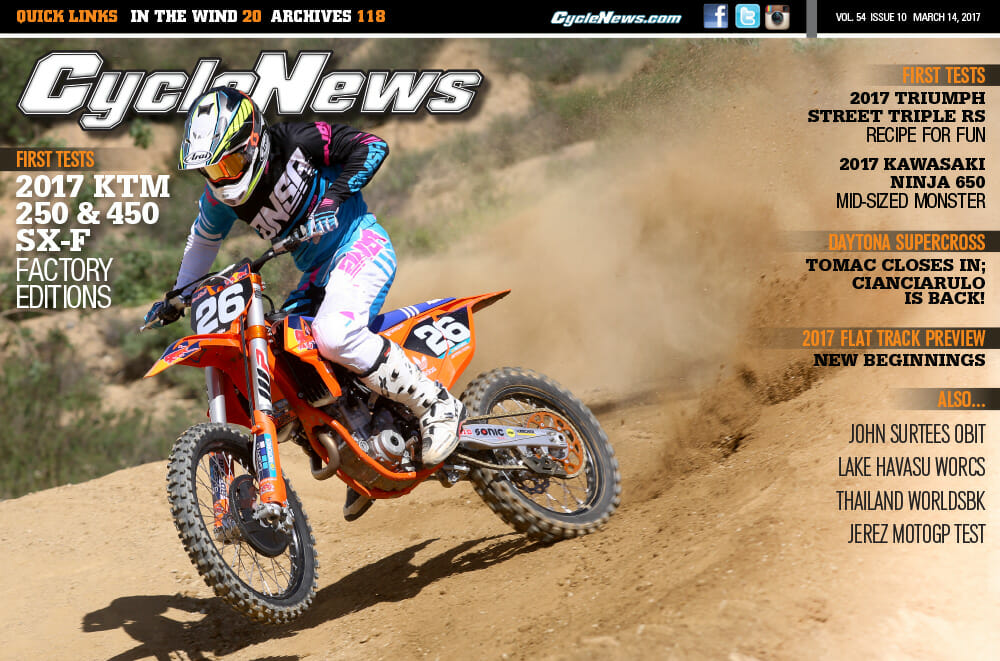 Cycle News Magazine #10: KTM Factory Editions First Tests, Daytona Supercross, Flat Track Preview...
