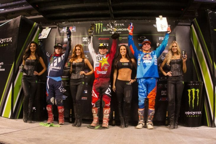 Indy 250SX East podium 2017