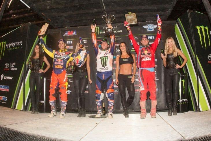 Indy Supercross podium 2017