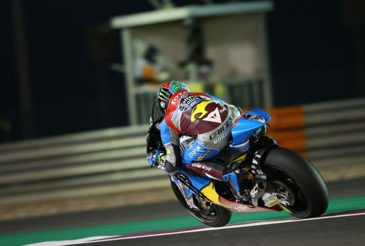 Marc VDS Kalex Franco Morbidelli led Moto2 free practice at Qatar.
