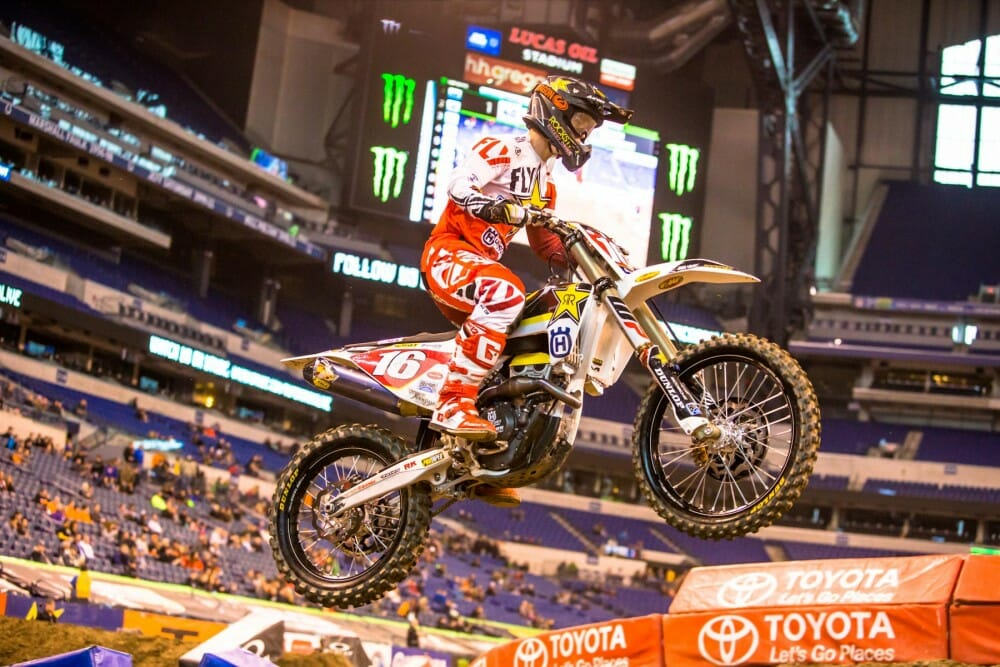 Zach Osborne extended his lead in the 250 East Supercross Series with his Indy victory.