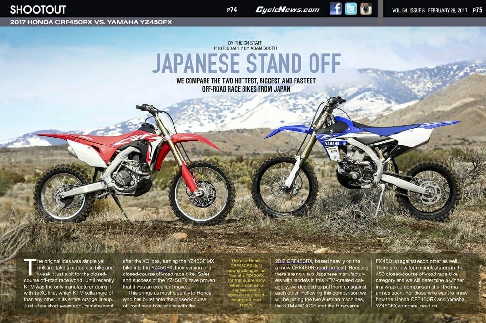 2017 Honda CRF450RX vs. Yamaha YZ450FX
