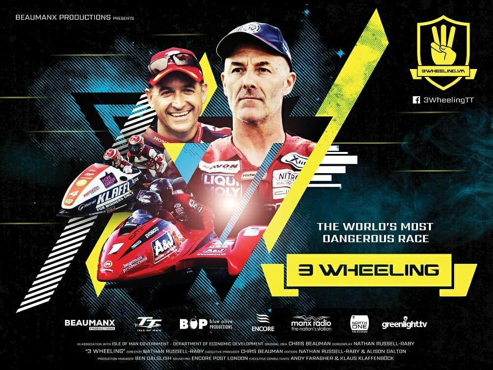 Isle of Man TT Sidecar Racing Movie - 3 Wheeling