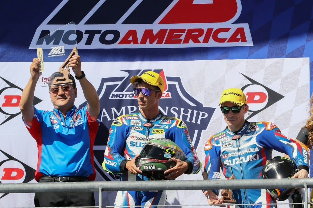 Yoshimura Suzuki Factory Racing's Toni Elias remained undefeated in MotoAmerica Superbike action at the picturesque Circuit of the Americas