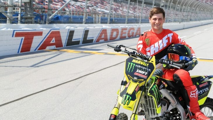 Monster Energy's Alex Harvill attempts world record motorcycle jump