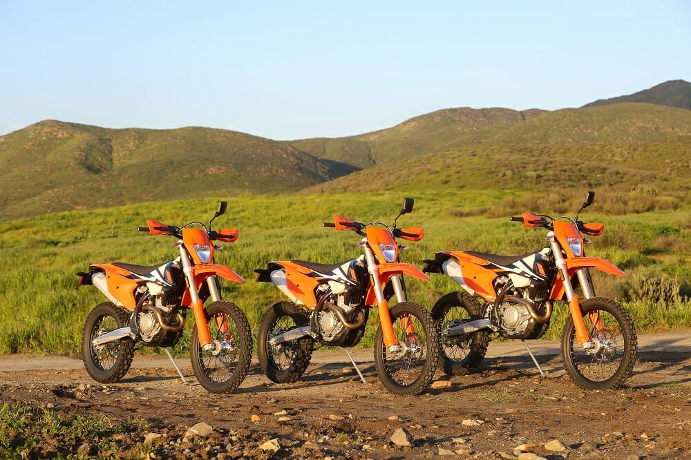 2017 ktm 250, 350 and 500 exc-f: first ride - cycle news