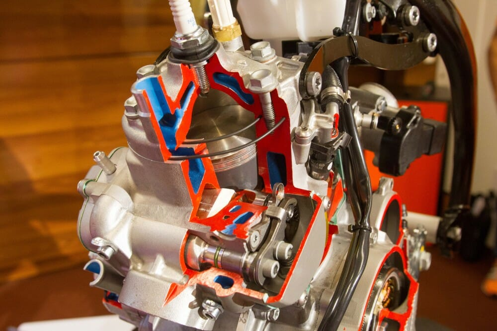 2018 ktm two stroke fuel injection. unique injection the two injectors are positioned in the transfer ports inside 2018 ktm stroke fuel injection
