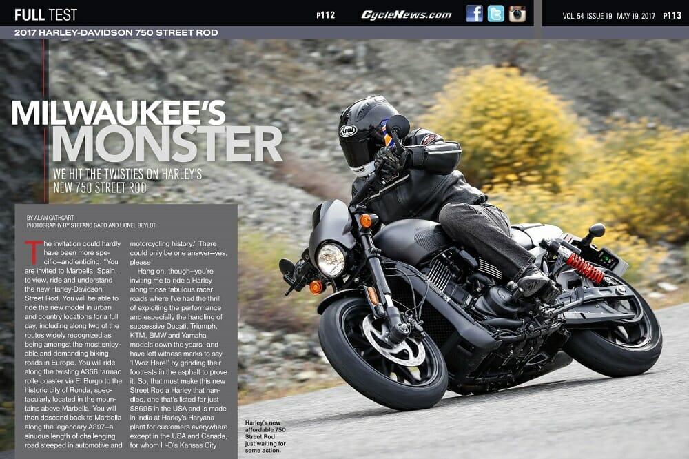 2017 Harley-Davidson 750 Street Rod