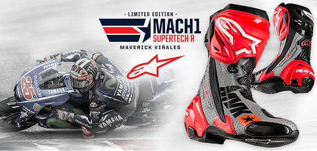 Alpinestars' Maverick Vinales Race Replica Mach 1 Supertech R Boot