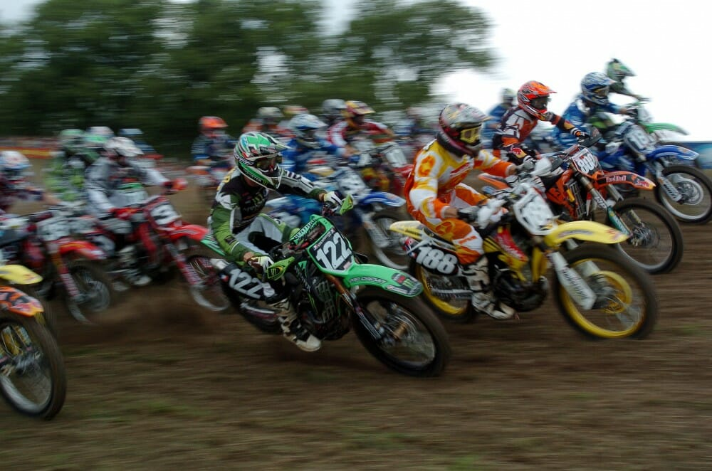 Matt Walker and Davi Millsaps Take Holeshot in 2005 Unadilla AMA 125cc National