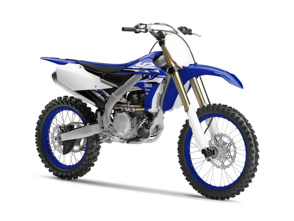 2018 yamaha yz450f first look cycle news. Black Bedroom Furniture Sets. Home Design Ideas