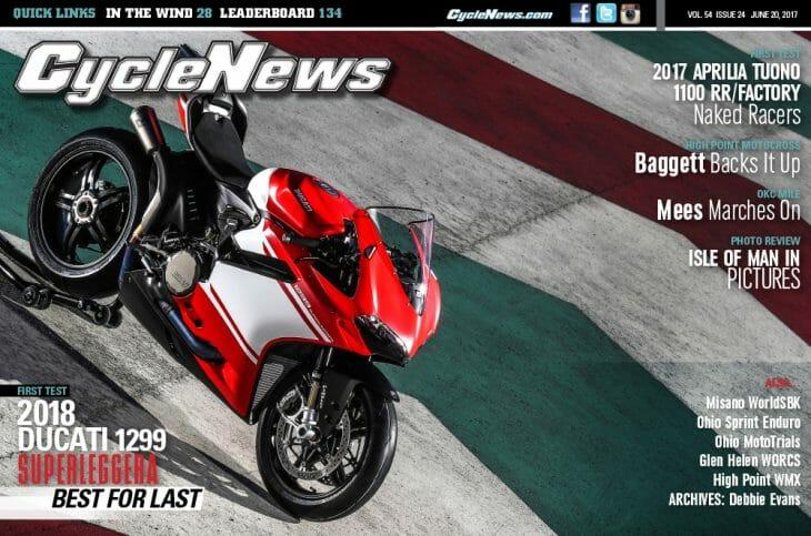 Cycle News Magazine #24: Ducati 1299 Superleggera First Test, High Point Motocross...