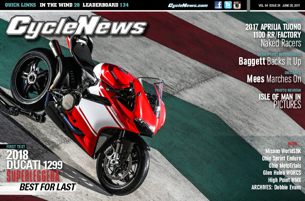 Cycle News Magazine #24: Ducati 1299 Superleggera First Test, High Point Motocross...
