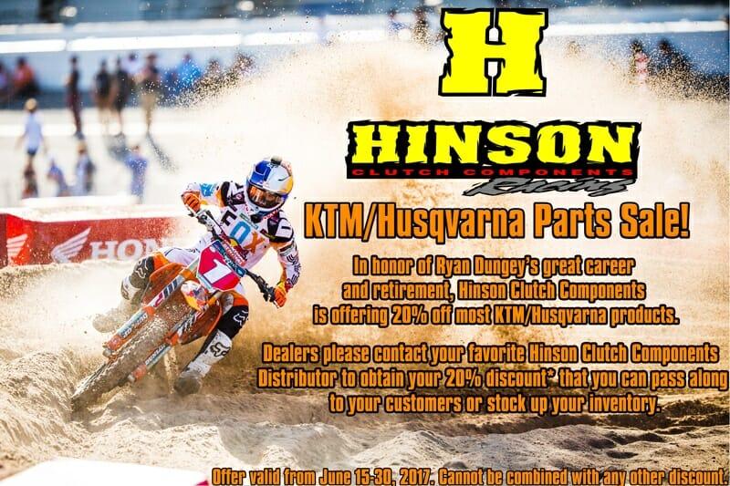 Hinson Clutch Components KTM/Husqvarna Dungey Sale