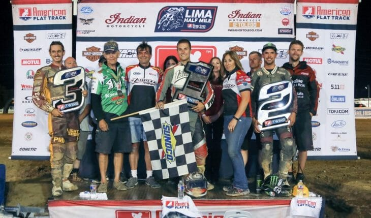 Briar Bauman took victory at the Lima Half-Mile. It marked his first AFT1 victory.