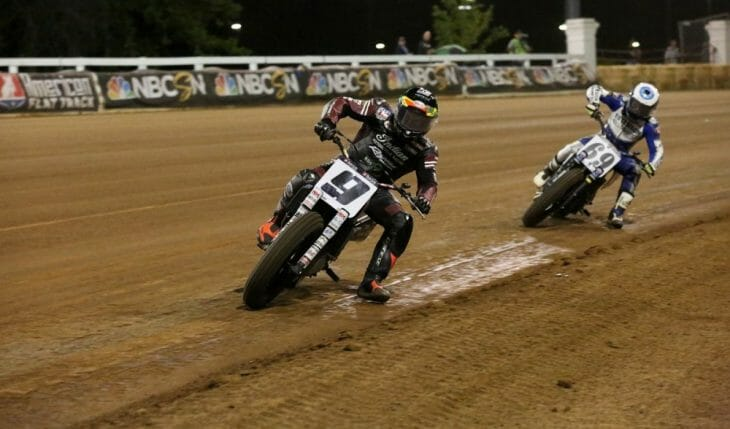 Jared Mees won the American Flat Track National on the Red Mile in Lexington, Kentucky.